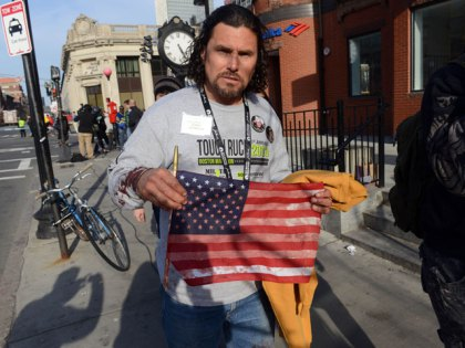 Carlos Arredondo, who was at the finish line of the Boston Marathon when two explosives detonated. (Photo by Darren McCollester/Getty Images)