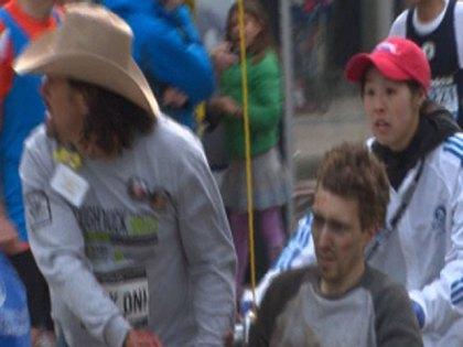 Carlos Arredondo with Jeff Bauman.